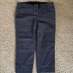 Ann Taylor polka dot cropped pants